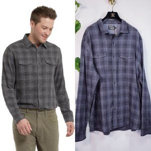 New GRAYERS Winter Grey Plaid Mens Shirt Top XXXL